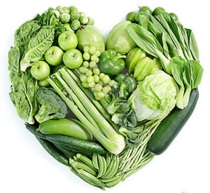 green-food-heart